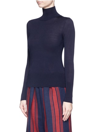 Front View - Click To Enlarge - Comme Moi - Wool-silk-cashmere turtleneck sweater