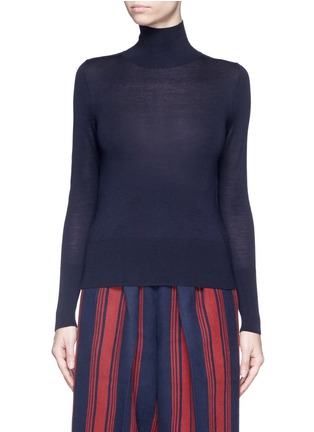 Main View - Click To Enlarge - Comme Moi - Wool-silk-cashmere turtleneck sweater