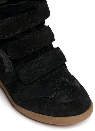Detail View - Click To Enlarge - Isabel Marant Étoile - 'Bekett' suede high top wedge sneakers