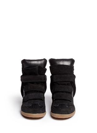 Isabel Marant Étoile-'Bekett' suede high top wedge sneakers