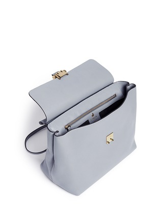 Detail View - Click To Enlarge - Lanvin - 'Essential' leather flap shoulder bag