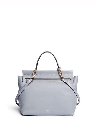 Back View - Click To Enlarge - Lanvin - 'Essential' leather flap shoulder bag