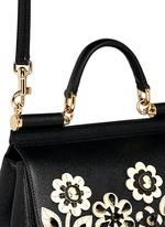 'Miss Sicily' medium cameo floral leather satchel