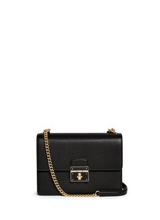 Main View - Click To Enlarge - Dolce & Gabbana - 'Rosalia' medium leather shoulder bag