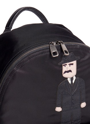 Detail View - Click To Enlarge - Dolce & Gabbana - ''Vulcano' Sicilian man appliqué nylon backpack