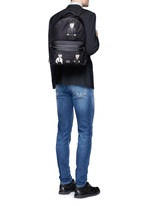 ''Vulcano' Sicilian man appliqué nylon backpack