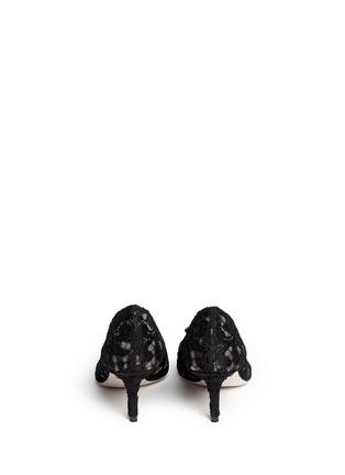 背面 - 点击放大 - DOLCE & GABBANA - 仿水晶装饰蕾丝中跟鞋