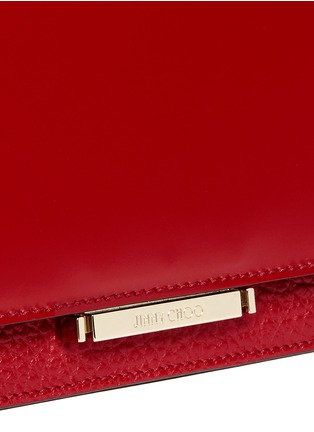 Detail View - Click To Enlarge - Jimmy Choo - 'Amie S' small leather combo boxy tote