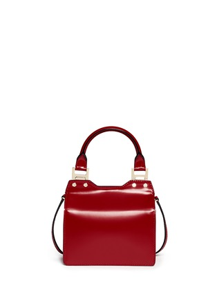 Back View - Click To Enlarge - Jimmy Choo - 'Amie S' small leather combo boxy tote