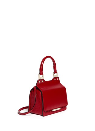 Front View - Click To Enlarge - Jimmy Choo - 'Amie S' small leather combo boxy tote
