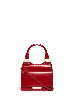Main View - Click To Enlarge - Jimmy Choo - 'Amie S' small leather combo boxy tote