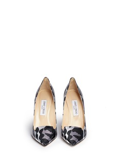 JIMMY CHOO 'Ari' camouflage print mirror leather pumps