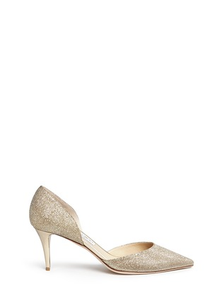 Main View - Click To Enlarge - Jimmy Choo - 'Mariella' acetate heel lamé glitter pumps