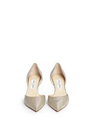 Figure View - Click To Enlarge - Jimmy Choo - 'Mariella' acetate heel lamé glitter pumps