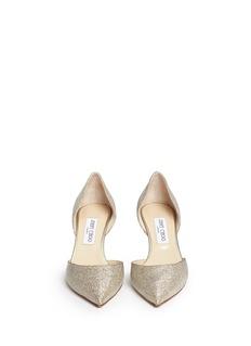 JIMMY CHOO'Mariella' acetate heel lamé glitter pumps