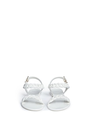 Front View - Click To Enlarge - Givenchy - Chain strap jelly sandals