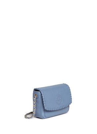Front View - Click To Enlarge - Tory Burch - 'Marion' mini leather crossbody bag