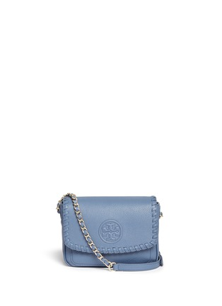 Main View - Click To Enlarge - Tory Burch - 'Marion' mini leather crossbody bag