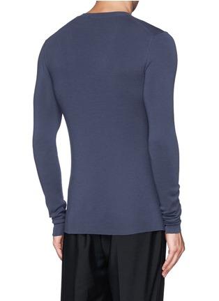 背面 - 点击放大 - DOLCE & GABBANA - 纯色V领羊毛针织衫