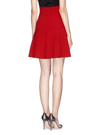 背面 - 点击放大 - DOLCE & GABBANA - 纯色高腰喇叭短裙