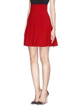 正面 -点击放大 - DOLCE & GABBANA - 纯色高腰喇叭短裙