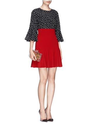 模特儿示范图 - 点击放大 - DOLCE & GABBANA - 纯色高腰喇叭短裙