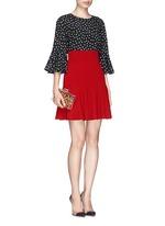 Flare high waist cady skirt