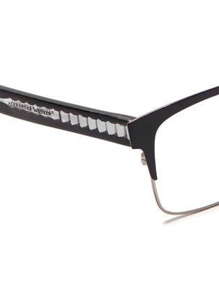 Alexander McQueen-Metal brow bar acetate optical glasses
