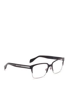 ALEXANDER MCQUEENMetal brow bar acetate optical glasses