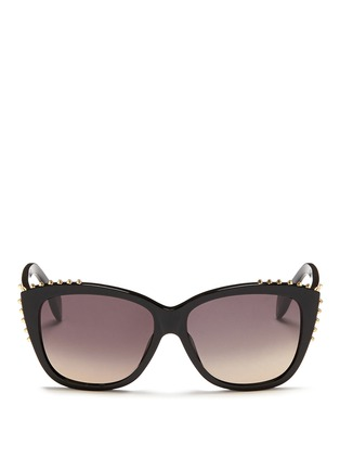 首图 - 点击放大 - ALEXANDER MCQUEEN - Stud cat eye acetate sunglasses