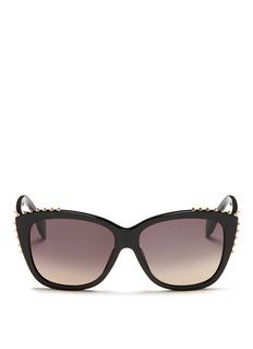 ALEXANDER MCQUEENStud cat eye acetate sunglasses