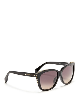 模特儿示范图 - 点击放大 - ALEXANDER MCQUEEN - Stud cat eye acetate sunglasses