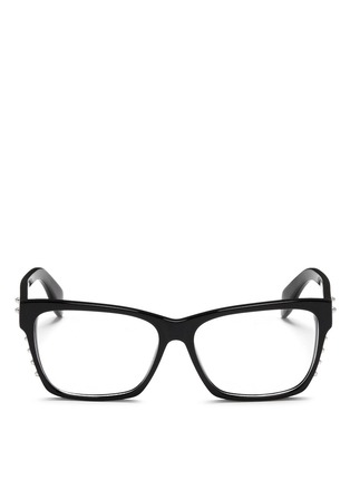 Main View - Click To Enlarge - Alexander McQueen - Stud square frame optical glasses