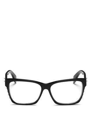 首图 - 点击放大 - ALEXANDER MCQUEEN - Stud square frame optical glasses