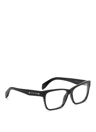 Figure View - Click To Enlarge - Alexander McQueen - Stud square frame optical glasses