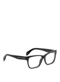 ALEXANDER MCQUEENStud square frame optical glasses