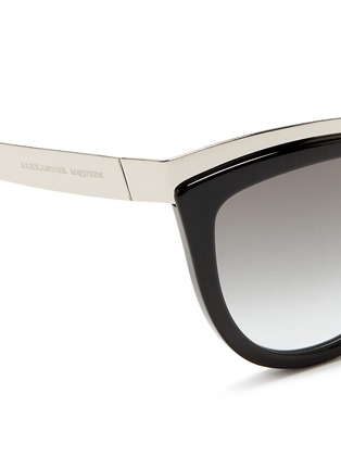 Alexander McQueen-Metal brow bar acetate sunglasses