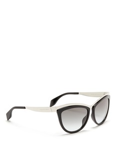 ALEXANDER MCQUEENMetal brow bar acetate sunglasses