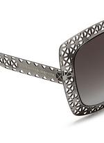 Laser cut lattice ruthenium sunglasses