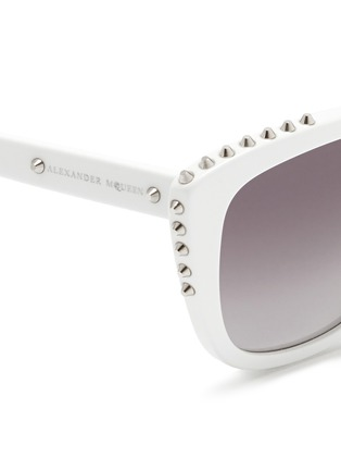 ALEXANDER MCQUEEN - Stud cat eye acetate sunglasses