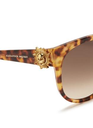 细节 - 点击放大 - ALEXANDER MCQUEEN - Sunray skull tortoiseshell acetate sunglasses