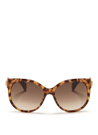 首图 - 点击放大 - ALEXANDER MCQUEEN - Sunray skull tortoiseshell acetate sunglasses