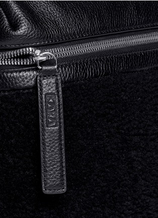 Detail View - Click To Enlarge - Kara - Small shearling leather backpack