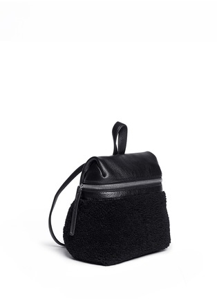 Front View - Click To Enlarge - Kara - Small shearling leather backpack