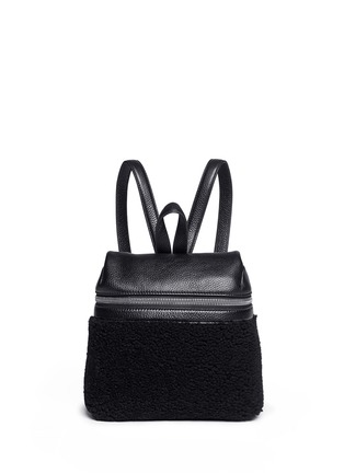 Main View - Click To Enlarge - Kara - Small shearling leather backpack