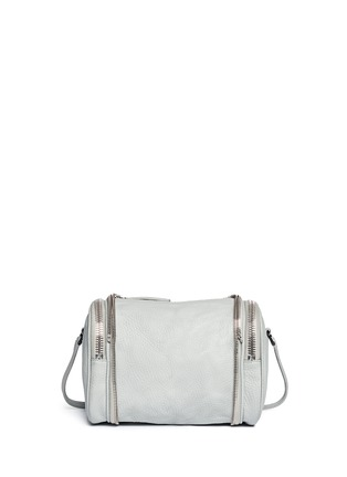 Back View - Click To Enlarge - Kara - 'Double Date' convertible leather crossbody bag