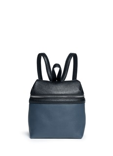 KARASmall colourblock leather backpack