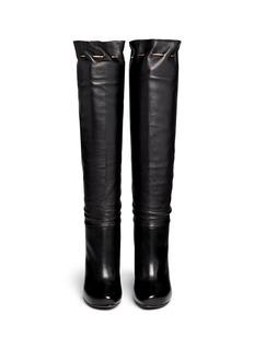 LANVINChain drawstring leather boots