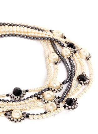 Detail View - Click To Enlarge - Miriam Haskell - Multi strand pearl bead necklace
