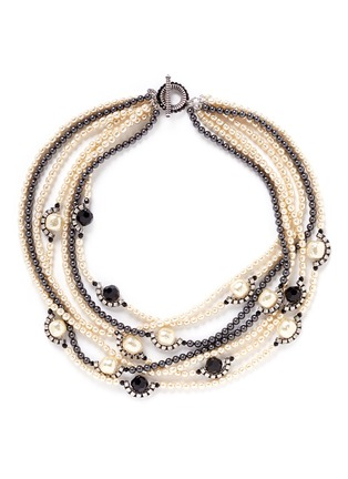 Main View - Click To Enlarge - Miriam Haskell - Multi strand pearl bead necklace